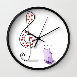 Cute Music is in the air in a valentine's day Wall Clock