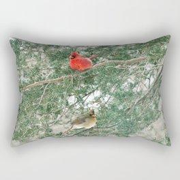 Tree for Two (Northern Cardinals) Rectangular Pillow