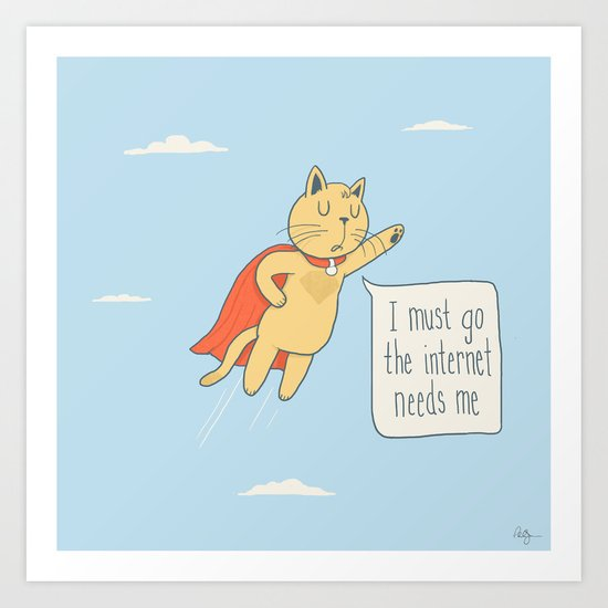 Internet Cat Art Print