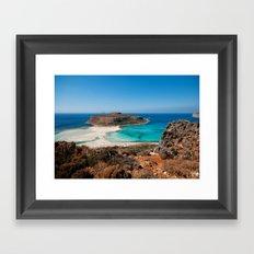 Balos Beach Framed Art Print