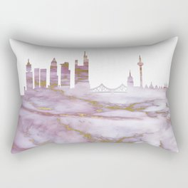 Frankfurt Germany Skyline Rectangular Pillow