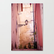 that lonely lamp up there Canvas Print