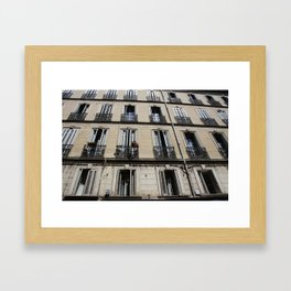 Architecture photograph made in Provence France of a characteristic Rivierea Louvre style house Framed Art Print