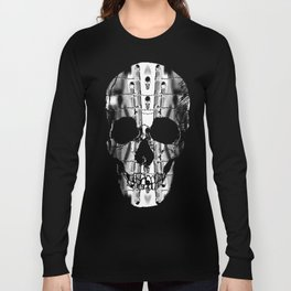 Skirting the Oblivion Fence in Black and White Long Sleeve T-shirt