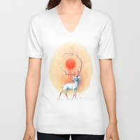 spirit V-neck T-shirts featuring Spring Spirit by Freeminds