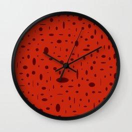 red spots Wall Clock
