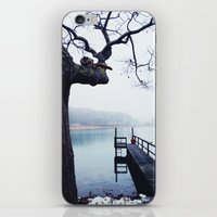 cheshire cat iPhone & iPod Skins featuring Cheshire Cat by Cape Porpoise Trading Co.