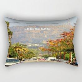 Make Jesus Famous Rectangular Pillow