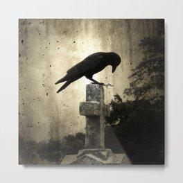 The Crow's Cross Metal Print
