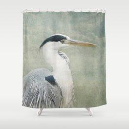 Cool Heron Shower Curtain