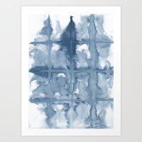 indigo Art Prints featuring Indigo by Dream Of Forest