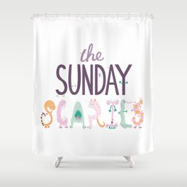 The Sunday Scaries Shower Curtain