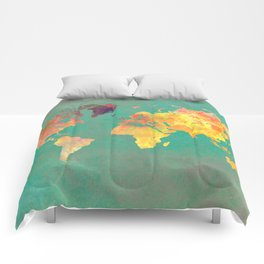 world map 103 #worldmap #map Comforters
