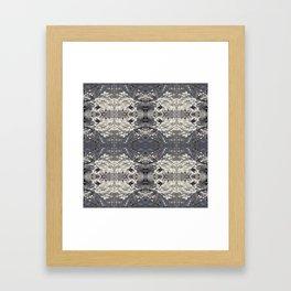 Icy Lattice Framed Art Print