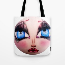 The Face of Pearlia Diamanté Tote Bag