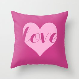 Love in a heart  Throw Pillow