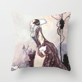 """Some Glory In Their Birth"" Fairy Art by Charles Robinson Throw Pillow"