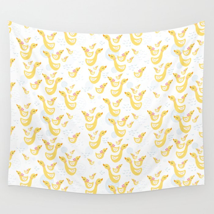 Ducky Mom n baby Wall Tapestry