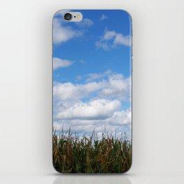 "Corn field in autumn with ""popcorn"" clouds iPhone Skin"
