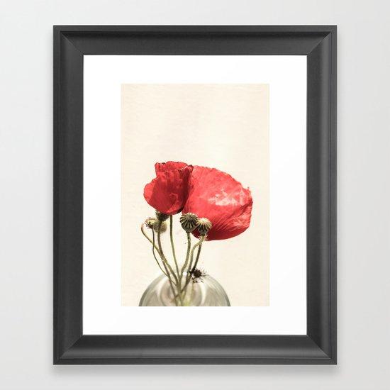 Poppies In Vase Framed Art Print