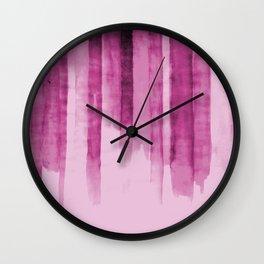 Pink Cascades Wall Clock