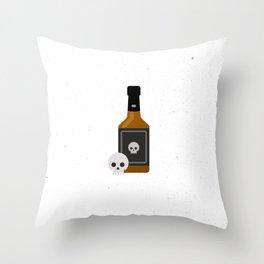 Whisky Death Throw Pillow