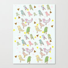 Bird Pattern Canvas Print