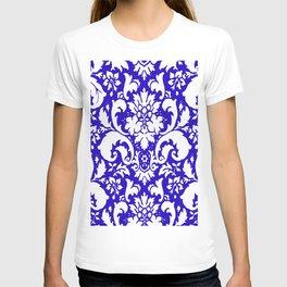 Paisley Damask Blue and White T-shirt