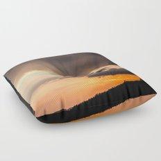 Sunset rays Floor Pillow