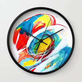 The right storm - Colourful abstract Wall Clock