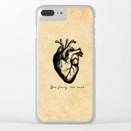 Edgar Allen Poe - Tell Tale Heart - You Fancy Me Mad Clear iPhone Case
