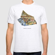 District XIV. Budapest Ash Grey Mens Fitted Tee LARGE