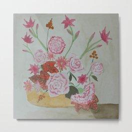 Ikebana Mediterranean Flowers Metal Print