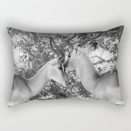 Gazelle (Black and White) Rectangular Pillow
