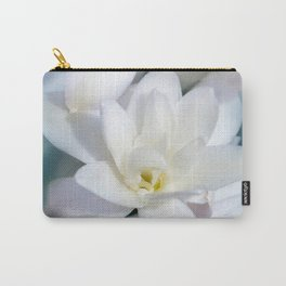 Flowers white macro 057 Carry-All Pouch