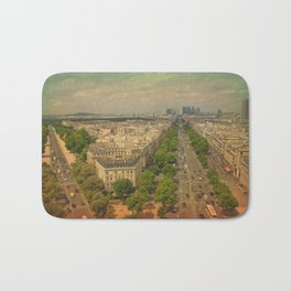 Avenue De Champs Elysees in Paris Bath Mat