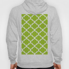 Arabesque Architecture Pattern In Lime Hoody