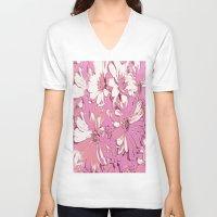 daisy V-neck T-shirts featuring Daisy  by Saundra Myles