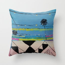 Abbot Kinney Blvd in Lights - Los Angeles California Throw Pillow