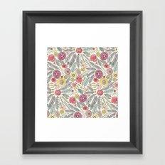 feather fleur watercolor Framed Art Print