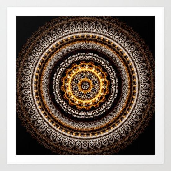 Mandala with tribal patterns Art Print