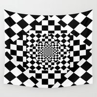 chess Wall Tapestries featuring Chess Board by Cs025