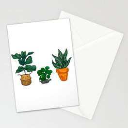 Potted Plant Critters 3 Stationery Cards