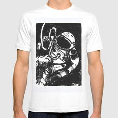Space Man MEDIUM Mens Fitted Tee White