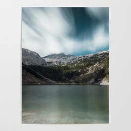 Magnificent lake Krn with mountain Krn, Slovenia Poster