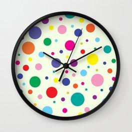 Celebrate | Dancing Polka Dots Wall Clock