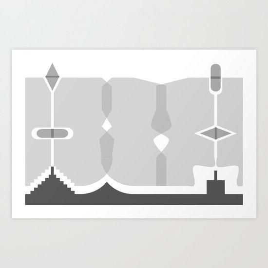 Asymmetry 1 Art Print