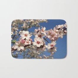 Almond blossom on the tree Bath Mat