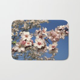 Almond blossom on the tree Bath Mat