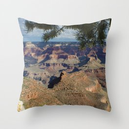 Battleship Rock, Grand Canyon NP, AZ -- Just after sunrise Throw Pillow